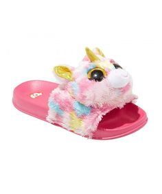 Girls' Beanie Boos Slide Sandals - Pink L, Girl's, Size: Large Unicorn Fashion, Unicorn Outfit, Onesie Unicorn, Unicorn Nails, Unicorn Room Decor, Unicorn Bedroom, Girl Beanie, Ty Beanie Boos, Pink Sandals
