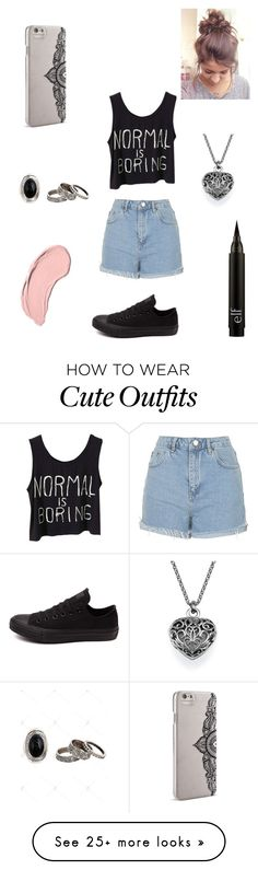 """Casual outfit"" by nicolettelessa on Polyvore featuring NYX, Topshop, Converse and Nanette Lepore"