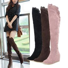 Flat ,Thigh high boots. Can I have them now please? | Shoes I love ...