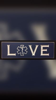 Paramedic/EMT/Star of Life carved sign. Great gift, fast shipping.
