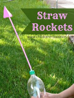 Simple Straw Bottle Rockets