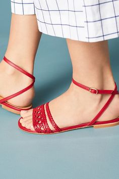 Slide View: 1: Naguisa Calis Woven Sandals