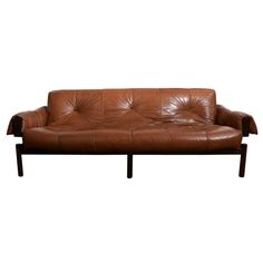 1960's Mid Century Brazilian Percival Lafer Leather Sofa With  Rosewood Frame | From a unique collection of antique and modern sofas at http://www.1stdibs.com/furniture/seating/sofas/