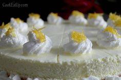 cheesecake lemoni me karamelomeno xisma Fudge, Feta, Camembert Cheese, Panna Cotta, Raspberry, Sweet Tooth, Cheesecake, Dairy, Sweets