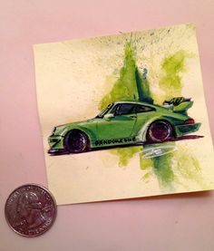 Automotive Designer Sticks out with Post-It Art - Photography by Doug Breuninger