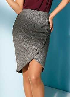 Class International fx Checked Skirt