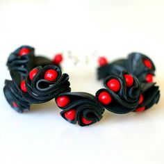 Dragoneye bracelet, red via ACCE, 45 €. Click on the image to see more! Dragon Eye, Bracelets, Red, Image, Jewelry, Jewlery, Jewerly, Schmuck, Jewels