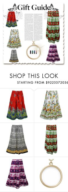 """""""Women's Long Skirts"""" by globaltrendzs-flipkart ❤ liked on Polyvore"""