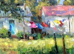 WASH DAY, painting by artist Julie Ford Oliver