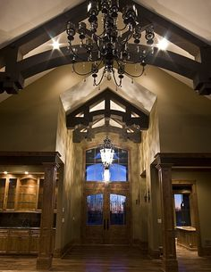 Custom timber frame entry