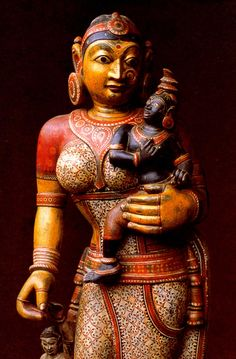 arjuna-vallabha:  Krishna and Yashoda, sculpture from Odisha