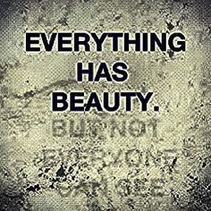 Do you see beauty...