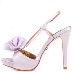 Badgley Mischka Women's Zabrina – Lily Satin Purple Sandals, Purple Shoes, Floral Sandals, Accessorize Shoes, Shoe Boots, Shoes Heels, Badgley Mischka Shoes, Flower Shoes, Only Fashion