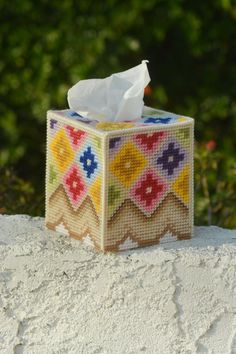Geometric Flower Tissue Box Cover                                                                                                                                                                                 More