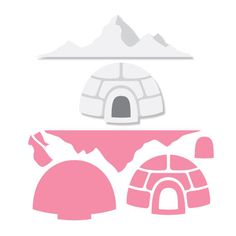 Marianne Design Collectables Cutting Dies - Eline's Igloo & Mountains COL1417