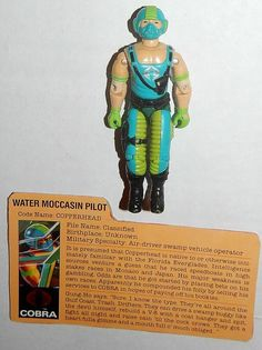 v1 we Do Combine Shipping Pretty And Colorful Gi Joe File Card Fc M.a.r.s Industries Officer