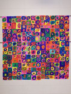 Art lesson- Kandinsky. Collaborative art project .... Abstract, line, color, repetition.