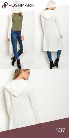"""🆕Cardigan 💚Bundle to save💚 💢PRICE FIRM UNLESS BUNDLED💢 ❌❌ NO TRADES ❌❌  🔹White Fuzzy Cardigan🔹 🔹Fabric Content: 60% NYLON 40% ACRYLIC🔹 🔹Made in China🔹 🔹Size Recommendations: 