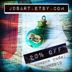Until the end of July, you can use the coupon code SUMMER20 for 20% off anything you order from my shop!