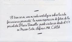 "La revista de Argentina ""El Gourmet"" recomienda visitar ""El tren se va"", Museo Evita, Lafinur 2988, Buenos Aires, Argentina."