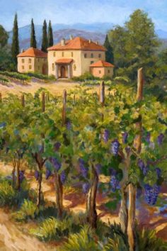 chianti harvest tile mural.. tuscan landscape