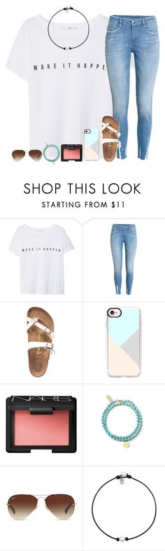 """Taking the ACT today!"" by sweet-n-southern ❤ liked on Polyvore featuring MANGO, H&M, Birkenstock, Casetify, NARS Cosmetics and Ray-Ban"