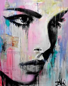 """tempest,"" colorful portrait painting by artist Loui Jover available at Saatchi Art #portrait"