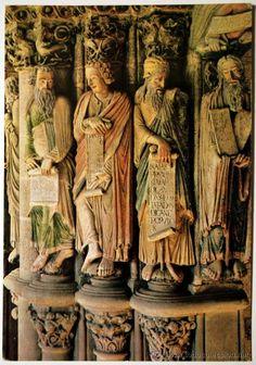 Profetas, Pórtico de la Gloria, Catedral de Santiago de Compostela (Spain).