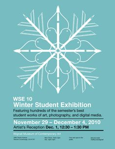 Flyer for a school's Winter Student Exhibition. Great Concept :)