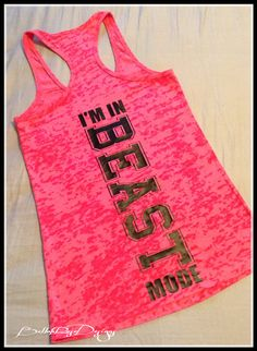 Beast Mode Super Cute and Fun Womens Fitness Tank Top Fitness Burnout Tank Top Womens Crossfit Tank. Fitness Tank Racerback Workout Tank on Etsy, $18.00
