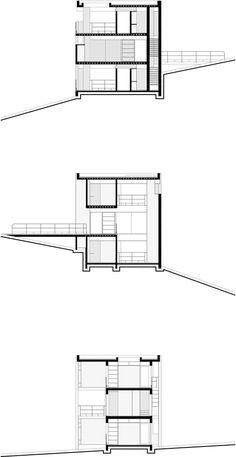 Duas casas na Mantiqueira,Casa B - Cortes
