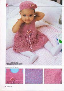 Artesanato diversão e prazer: Vestidos de croche para bebês com gráfico