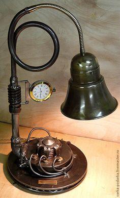 Купить Техно-лампы - техно-арт, техноарт, светильник, лампа, стимпанк, steampunk, дизельпанк, dieselpunk