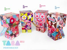 DIY Set of 4 Printable Cutout Robots, Spring TaraBots, DIY Paper Toy, Printable Robots, Educational Toy, Didactic, Art Toy via Etsy