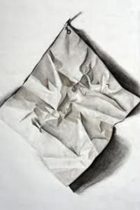 Charcoal Drawing Techniques For anyone who wants to be a professional drawer it is important to master the technique of drawing fold and wrinkles in clothes and apply it to the drawings. Value Drawing, Drawing Bag, Paper Drawing, Drawing Skills, Drawing Lessons, Drawing Techniques, Drawing Tips, Simple Line Drawings, Realistic Drawings