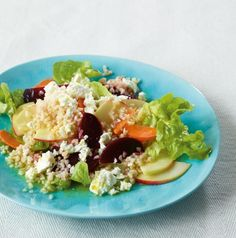 Bulgur-Gemüse-Salat: Mit Roter Bete, Möhren, Apfel und Schafskäse ein feiner leichter Imbiss
