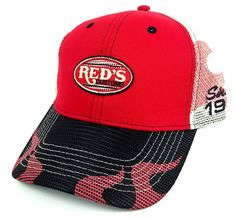 64df401f35d Red s Customs Racing Hat Flames Checkered Flags Trucker Brand New NWT  Snapback  Trucker Checkered Flag
