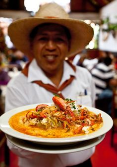 Here. Let me tempt you with chupe de camarones from Mexico.