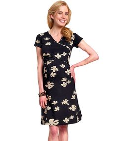 Look at this Paola Maria Black Bloom Organic Maternity/Nursing Dress - Women on #zulily today! Maternity Nursing Dress, Nursing Wear, Cotton Crafts, Maria Black, Breastfeeding, Organic Cotton, Pregnancy, Bloom, Short Sleeve Dresses