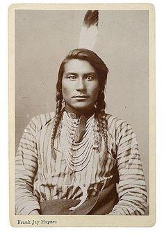 Hail Stone - Crow, ca. 1890 - Aka Stump Horn Bull, aka Spotted Horn Bull - Photo by Frank Jay Haynes.  (Original)