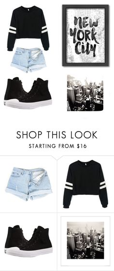 """Untitled #18"" by ymanic ❤ liked on Polyvore featuring Converse and Americanflat"