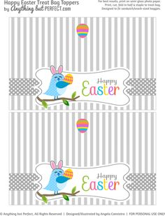 {Free Printable} Easter Treat Bag Topper