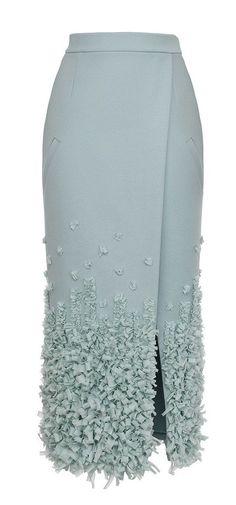 Embellished Heavy Cloth Midi Skirt by Ruban
