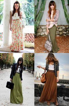 Quatro lukes com saias longas