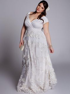 13 -1X 2X 3X Plus Size Belted 3/4 Sleeve Laced Summer Wedding ...