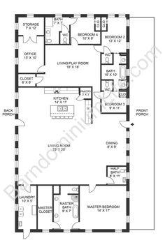 Metal House Plans, Pole Barn House Plans, New House Plans, Dream House Plans, Small House Plans, House Floor Plans, Modular Floor Plans, Duplex Floor Plans, Basement Floor Plans