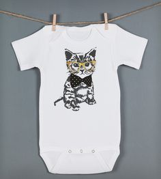 Hipster Kitten Baby Bodysuit   Gifts Babies & Kids   Feather 4 Arrow   Scoutmob Shoppe   Product Detail