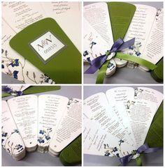Double Sided Wedding Program Petal Fan with by MilgrimDesigns