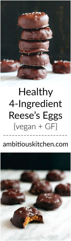 What are you waiting for? Making these easy healthy reese's eggs made with only 4 simple ingredients. They're low carb, gluten free, low sugar and have a glorious peanut butter middle!