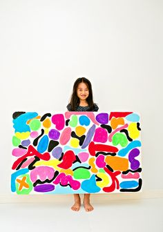 hello, Wonderful - BIG CANVAS ART PAINTING WITH KIDS INSPIRED BY MATISSE
